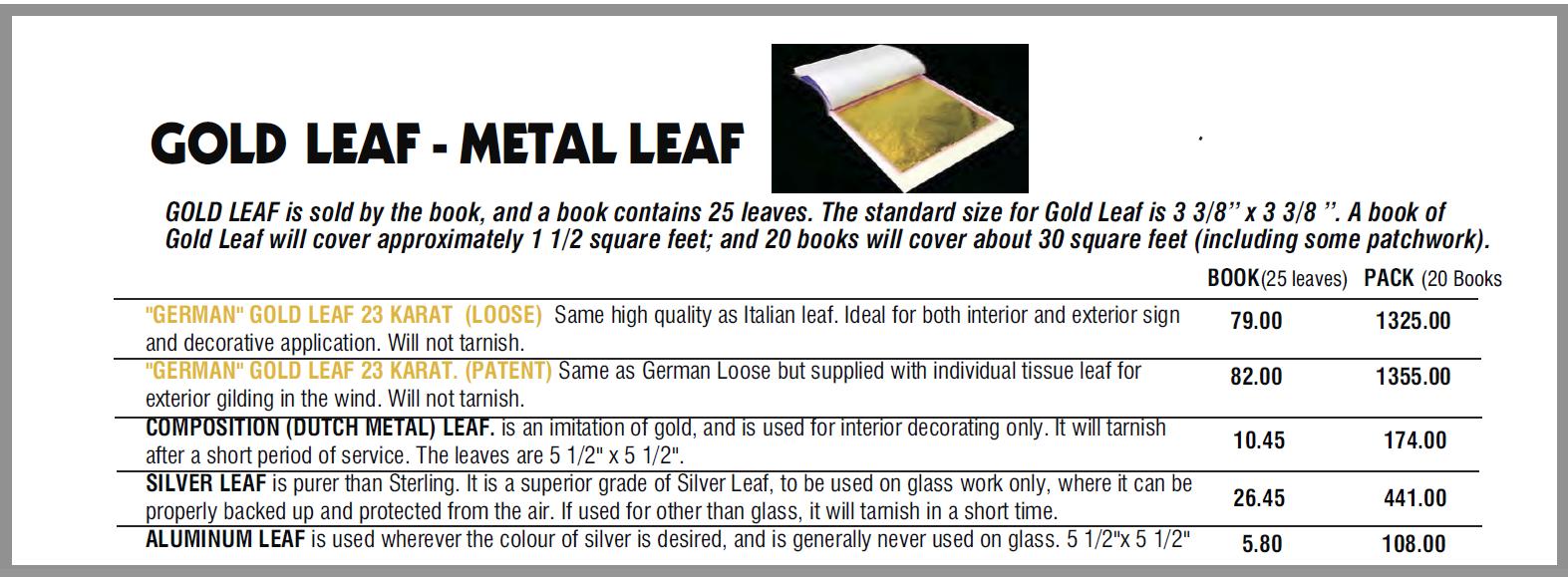 gold leaf part 1 1 - Gold Leaf Supplies
