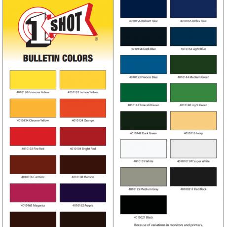 1 shot bulletin color card 2