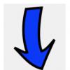 "arrow down blue 100x100 - Sign Blanks -  ""Coroplast"" -  Hinge Handle  - Aluminum Blanks"