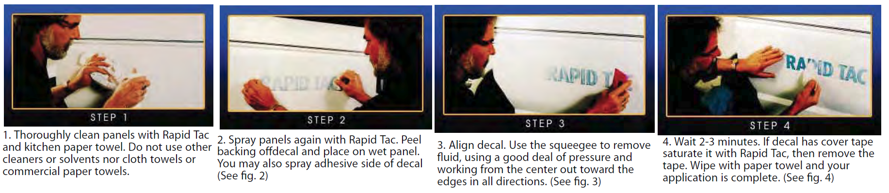 rapid tac directions - Rapid Tac Products - Application Fluid - Remover