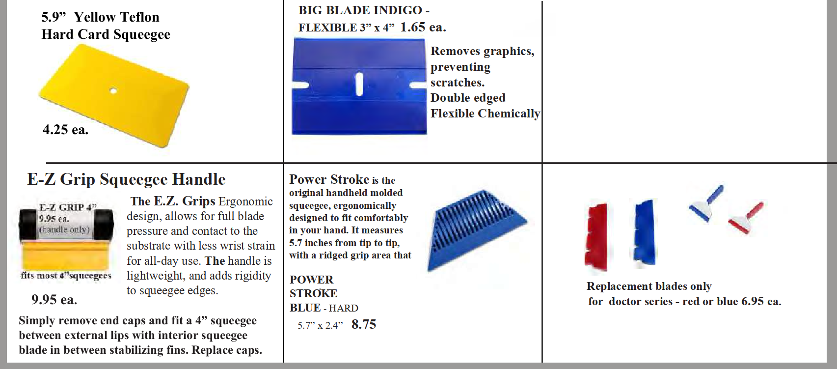 squeegee applicator page 2 - Squeegees for Vinyl Application