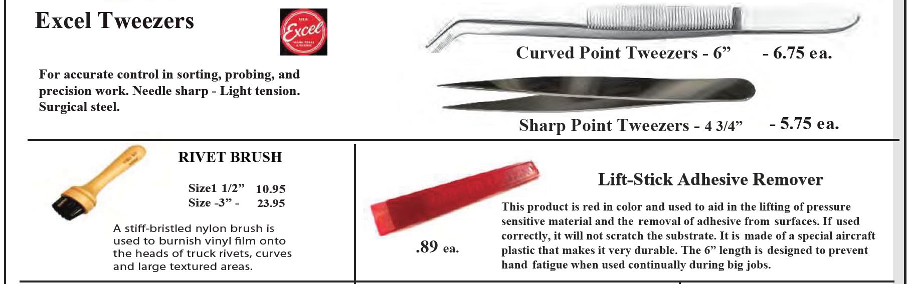 tweezers lift stick rivet brush - Vinyl Application Tools