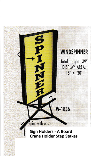 windspinner image 3 - A Board - Crane Holder - Step Stakes -   Spinner - Standoffs