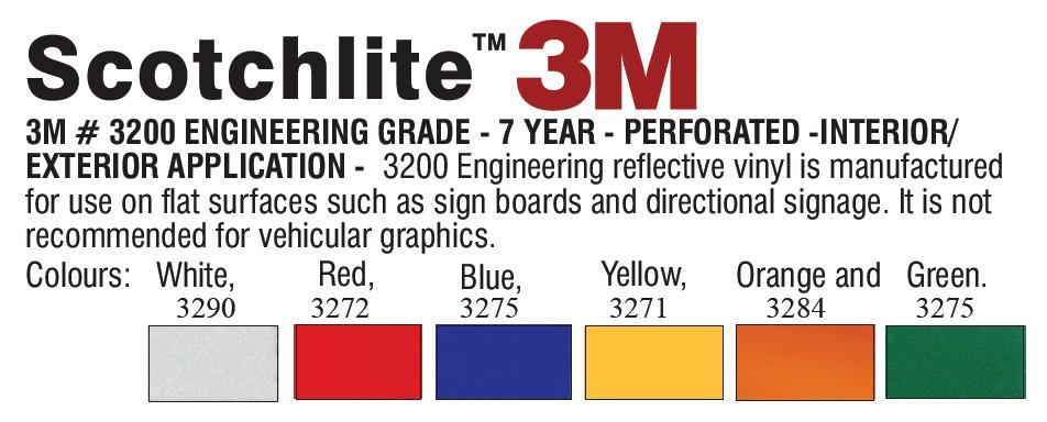 3M 3200 series - 3M Reflective Vinyl - Engineer's Grade