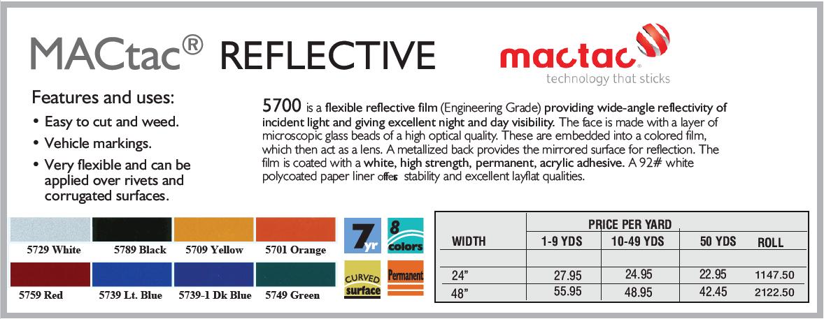 mactac reflective - MacTac Reflective Vinyl