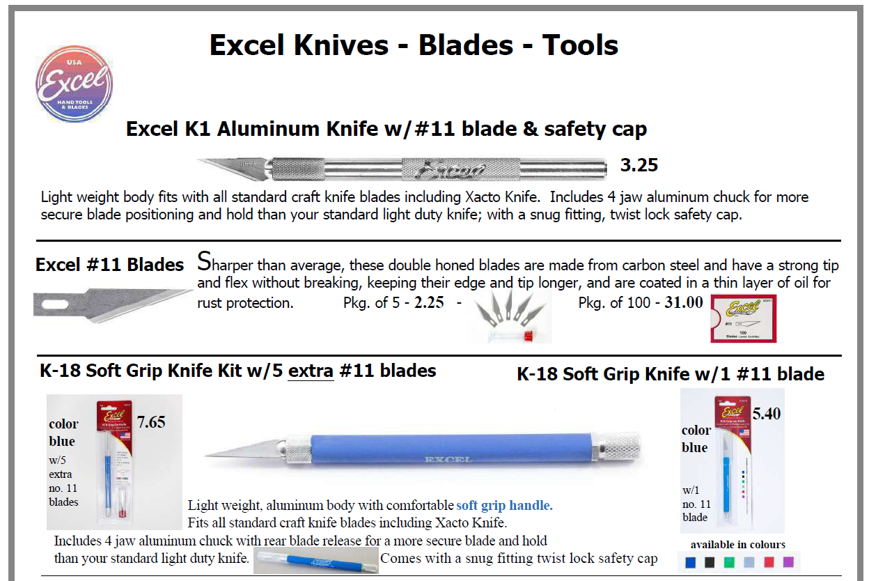 Excel 1 - Excel Cutting Tools