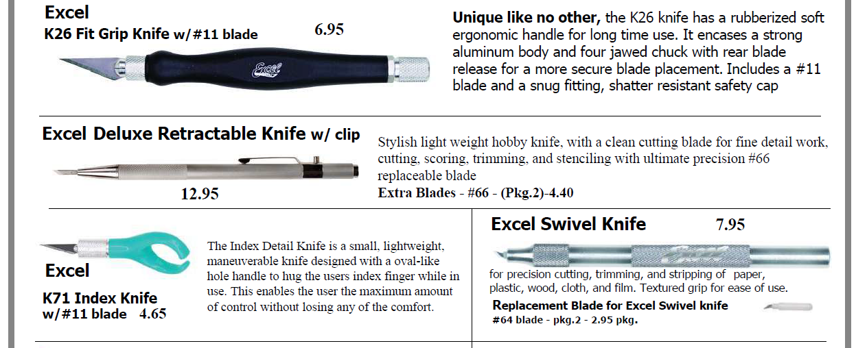 Excel 2 - Excel Cutting Tools