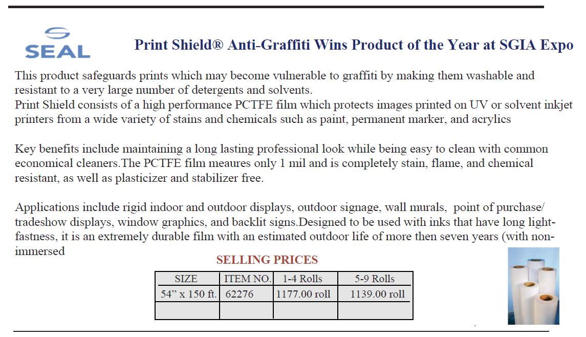 Anti Graffiti Seal - Anti-Graffiti Film & Paint
