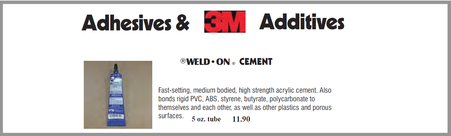 adhesives 1 1 - Adhesives - Spray, Cement, Tape