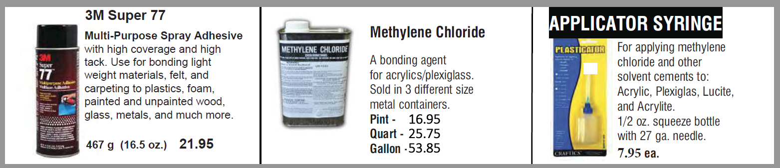 adhesives 3 3 - Adhesives - Spray, Cement, Tape