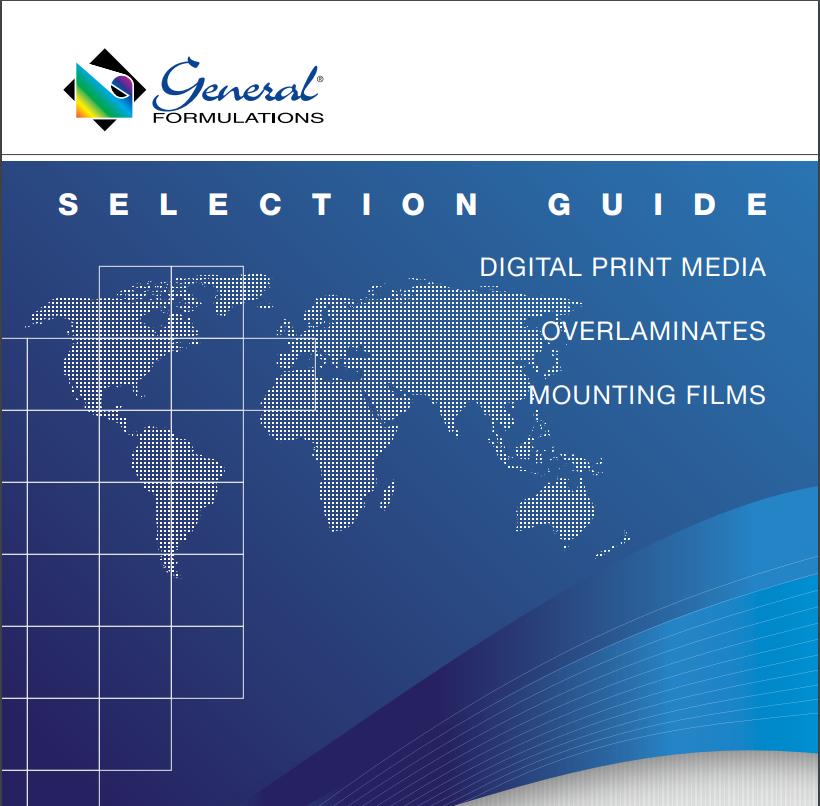 GF Selection Guide - Digital Imaging Films - General Formulations Line