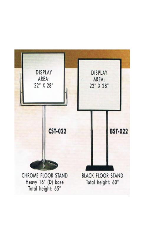 """floor stands image 4 - """"A"""" Frames - Sign Holders -  Banner Stands - Floor Stands - Sign Blanks"""