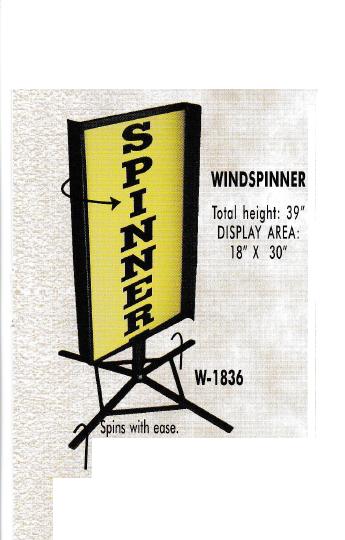 """windspinner image - """"A"""" Frames - Sign Holders -  Banner Stands - Floor Stands - Sign Blanks"""