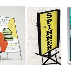 Sign holder a frames banner stands 250x245 - Home Page