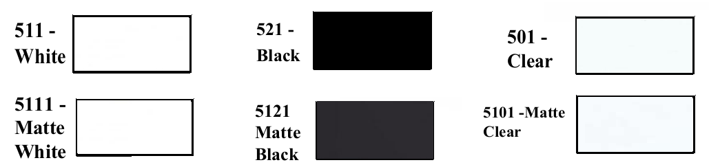 2.8 mil whites blacks clears image - Ultra Gloss Calendered Vinyl - 2.8mil Premium - White, Black, & Clear