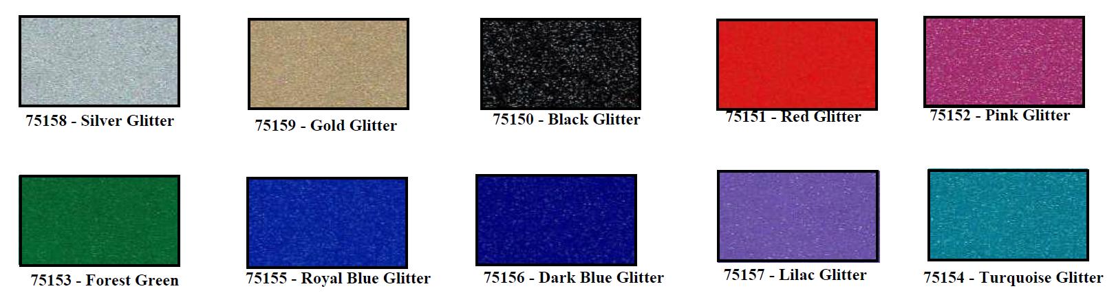 Glitter colors - Glitter Vinyl - SMF 4mil Cast Vinyl