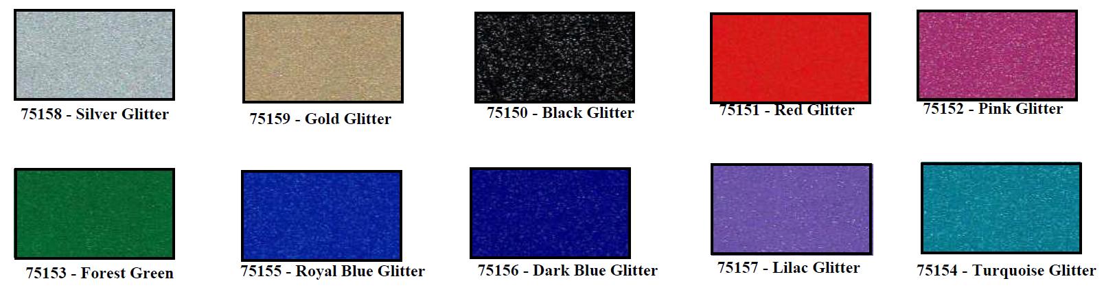 smf glitter color card