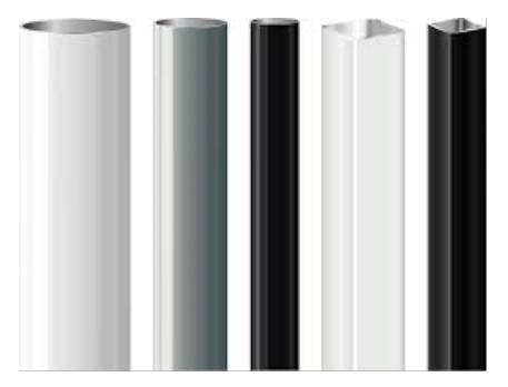 vinyl rolls white black clear - Ultra Gloss 2.8 mil Premium Calendered