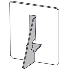 grey glue on eael back - Card Easel Backs