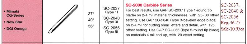 sc3 - Plotter Blade - Sale